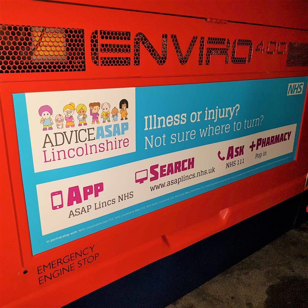 NHS Lincolnshire bus rear (fixing photo)